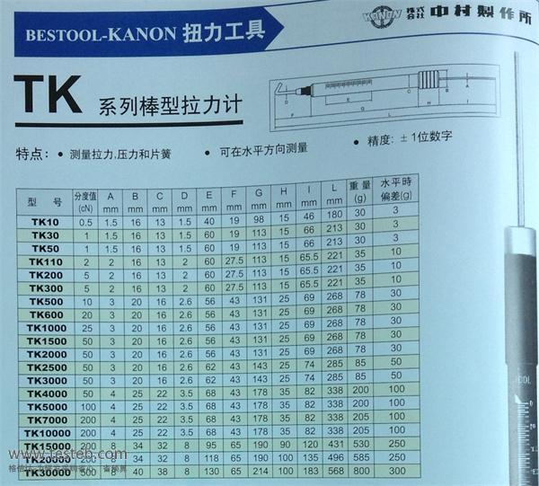 中村KANON弹簧秤/拉力棒TK600