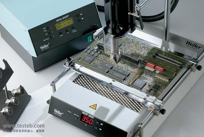 Weller T0053338699 WHP3000红外线预热板功率600W 230V,加热表面尺寸120x190mm,3个红外高温陶瓷单元可以快速、高效的加热,温度范围50-400,具有数字显示屏,用来预热需要维修的电路板,以减少热损伤。