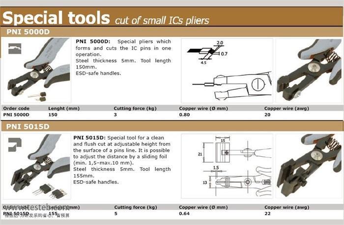 皮尔杰克Piergiacomi元件引脚成型钳PNI5015
