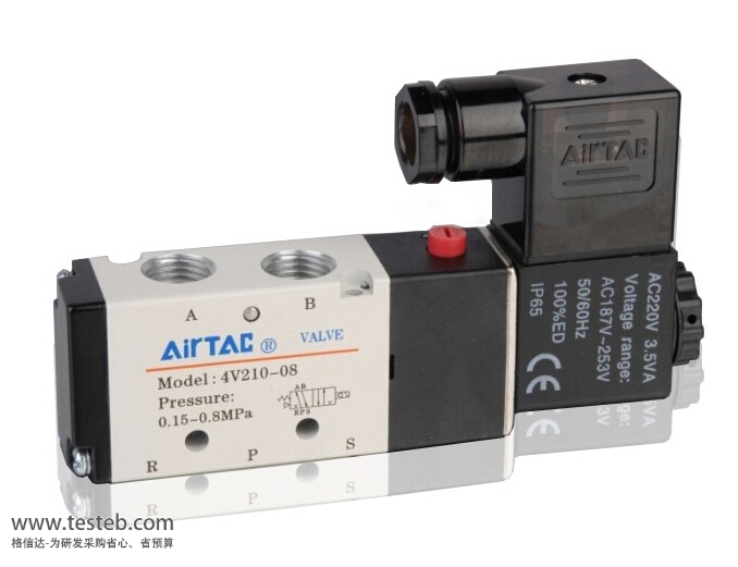 亚德客AirTac电磁阀4v210-08