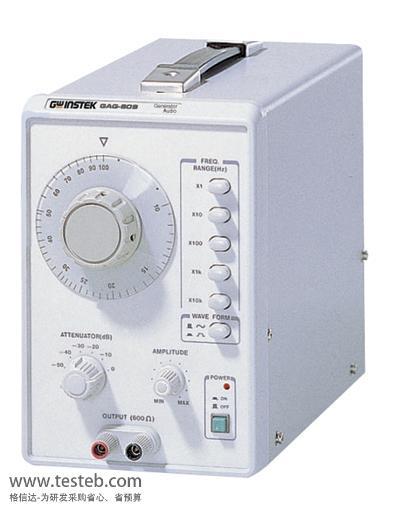 固纬gag-809信号发生器提供10hz ~ 1mhz低频音频信号,六段输出衰减器