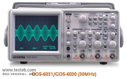 固纬GWINSTEK示波器与探头GOS-6031