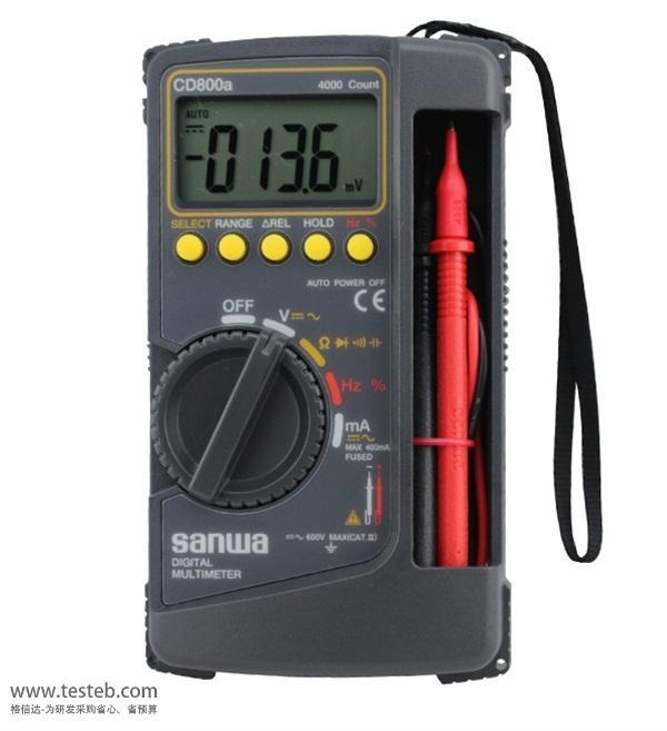3-3/4位4000数据点 最大精度0.7% 电容测量 频率测量(仅交流正弦波) 数据锁定/量程锁定 相对值测量 自动关机(30分钟,可取消) 通断量程中的低电量电阻(输入电压0.4V) 坚固的防护盖,也可用作倾斜支架 机身盖子后附芯片座