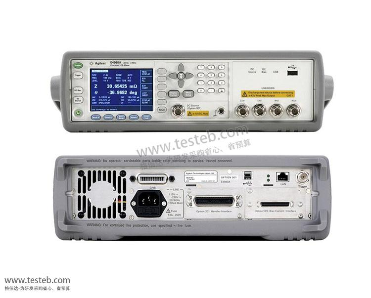 是德科技 安捷伦AgilentLCR测试仪/电桥表E4980A